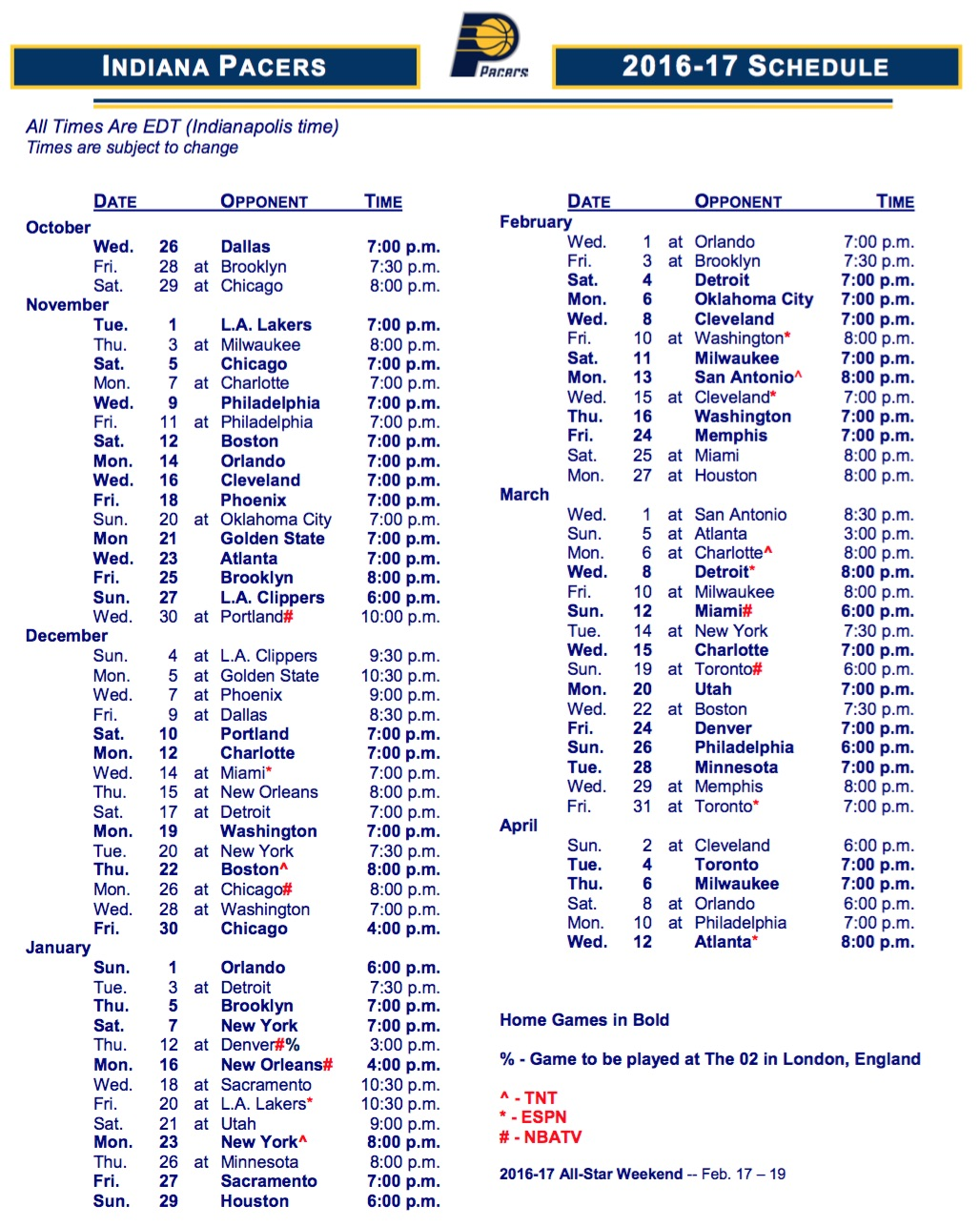 This is a graphic of Slobbery Printable Pacers Schedule
