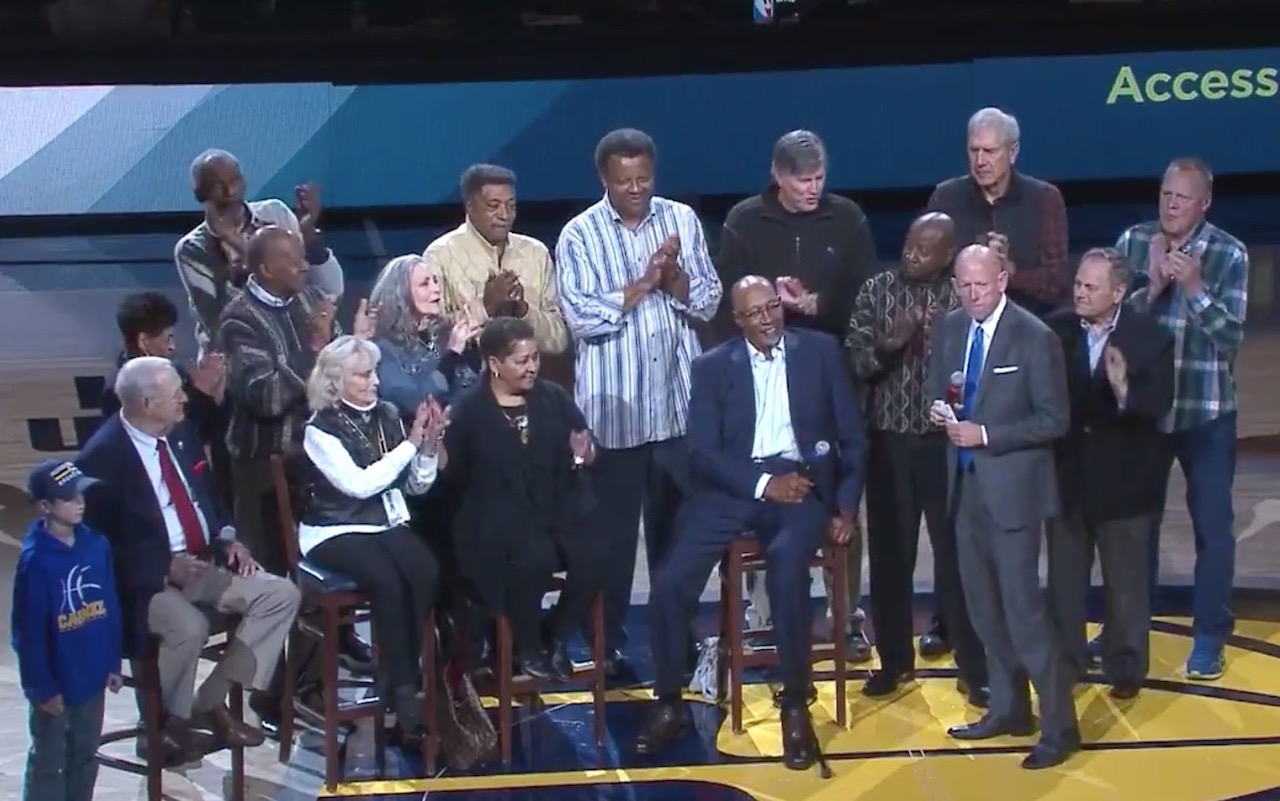 Pacers celebrate McGinnis Hall of Fame enshrinement present him